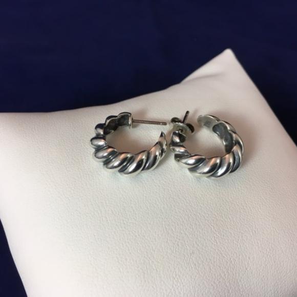 James Avery Jewelry Twist Flute Hoop Post Earrings Poshmark